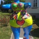 Statue réalisée par les élèves du lycée agricole d'Erstein, à l'occasion de son inauguration, le 24 avril 2015