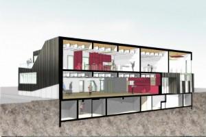 Coupe 3D du projet au CSF Victor Hugo