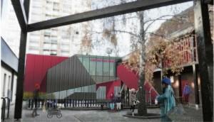 Façade 3d sur court intérieure du CSF Victor Hugo